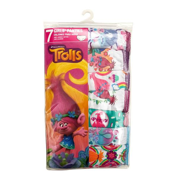 Girls' Trolls Panties 7-Pack