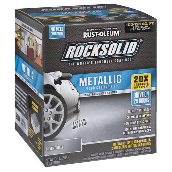 Rocksolid Silver Metallic Floor Coating Kit Blain S Farm