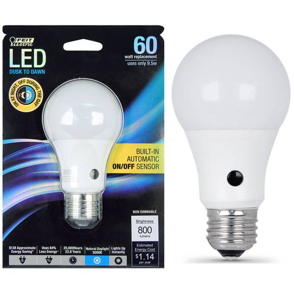 95W/60W, Non-Dimmable LED, A19 Light Bulb, E26 Base