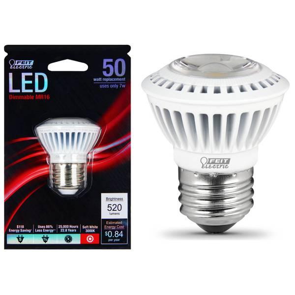 7W/50W LED MR16 Light Bulb, E26 Base