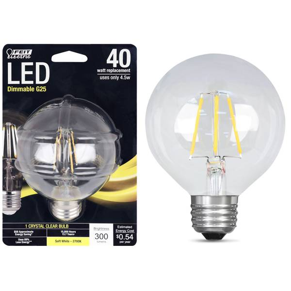 45W/40W LED G25 Light Bulb, E26 Base, 2700K