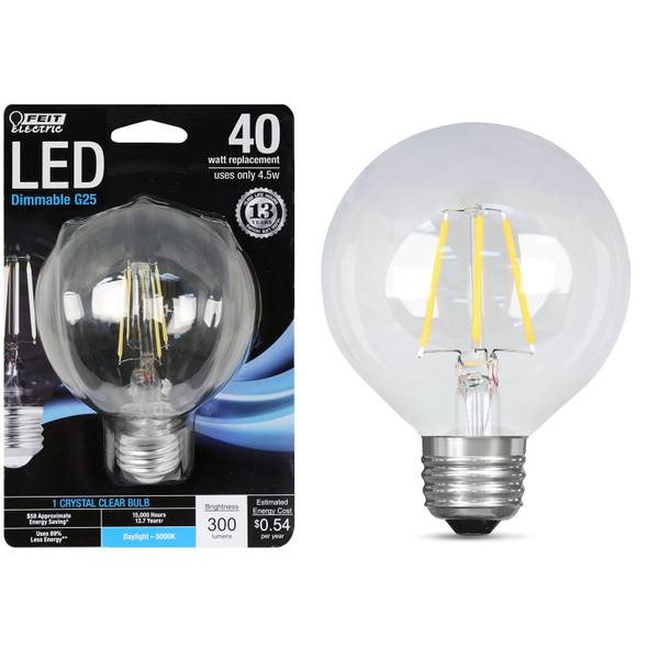 45W/40W LED G25 Light Bulb, E26 Base, 5000K