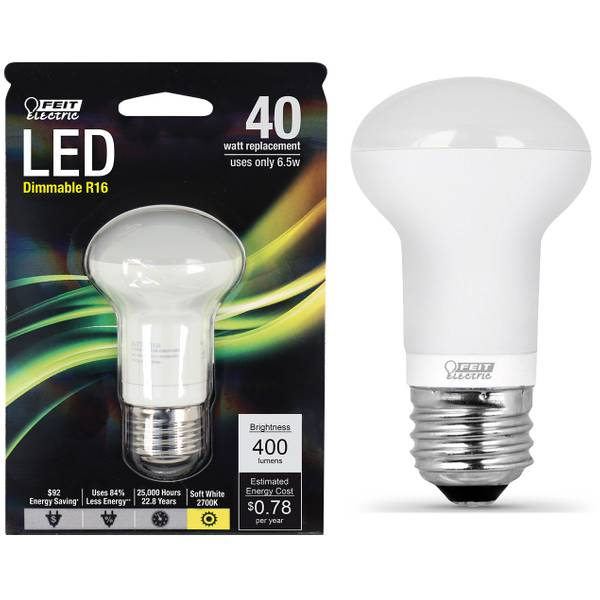 65W/40W LED R16 Light Bulb, E26 Base