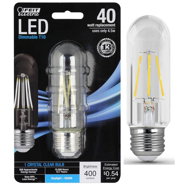 45W/40W LED T10 Light Bulb, E26 Base