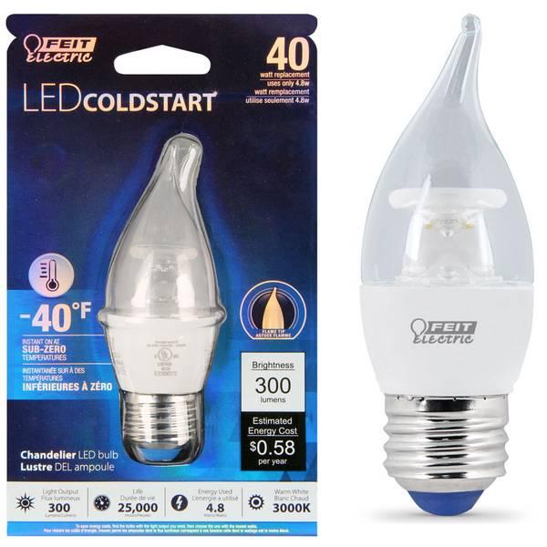 48W/40W LED COLD Flame Tip, E26 Base