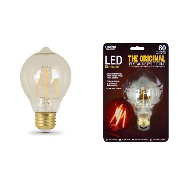 4W/60W Vintage LED A19 Light Bulb, E26 Base