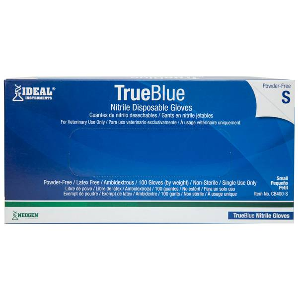 TrueBlue Nitrile Disposable Gloves - 100 Count