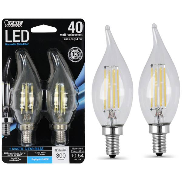 Chandelier Flame Tip LED Light Bulb