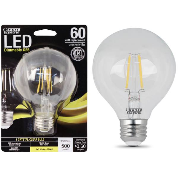 Dimmable G25 Frost Bulb