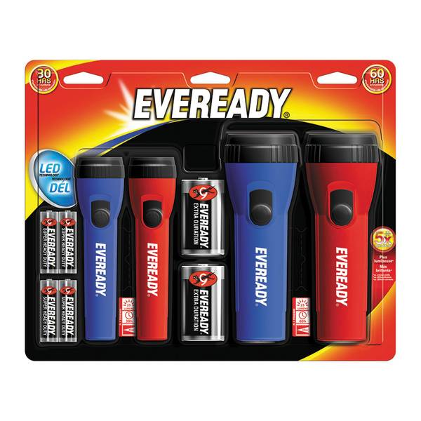 LED Flashlights - 4 Pack