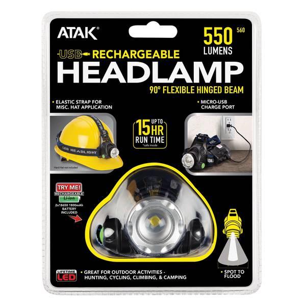 500 Lumen Rechargeable Headlamp