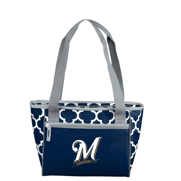 Milwaukee Brewers Quatrefoil 16 Can Cooler Tote