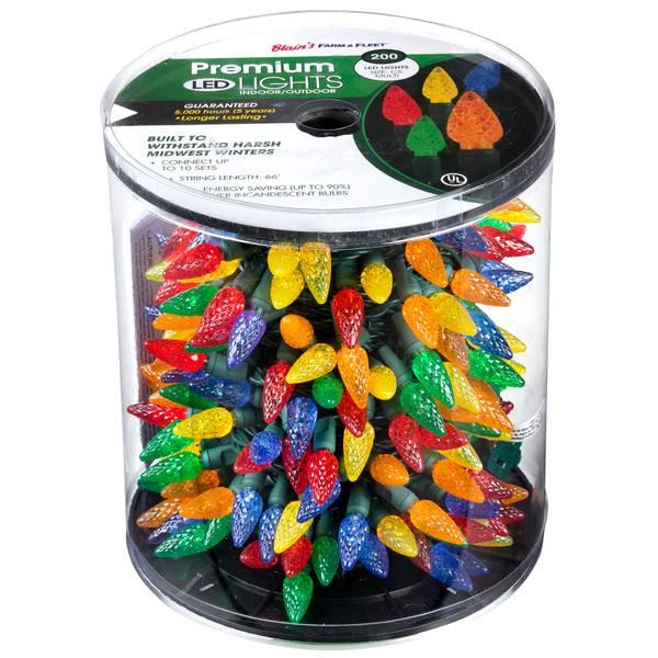 Premium 200-Light LED C6 Multicolor Light Set
