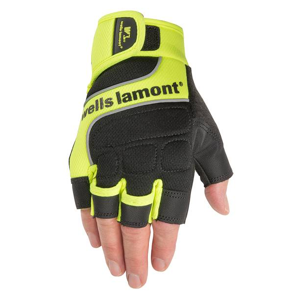 Hi Viz Hi-Dexterity Fingerless Work Gloves