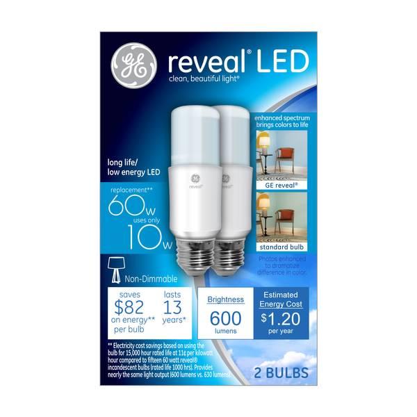 Reveal LED Bright Stik Bulb - 2 Pack