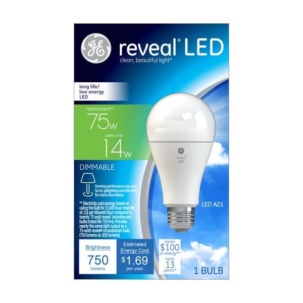 Reveal LED A21 Bulb