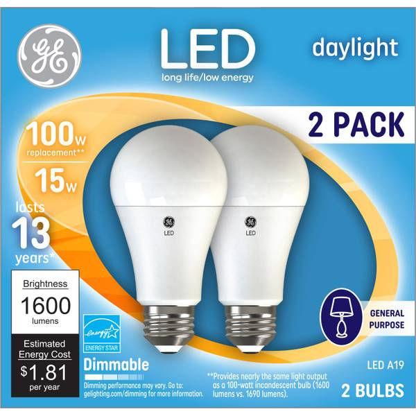 General Purpose Daylight Bulb - 2 Pack