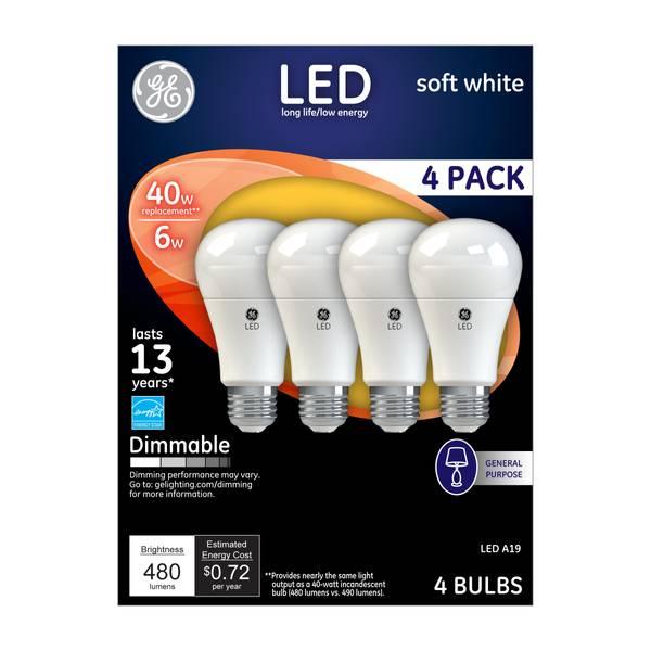 LED A19 Light Bulb - 4 Pack