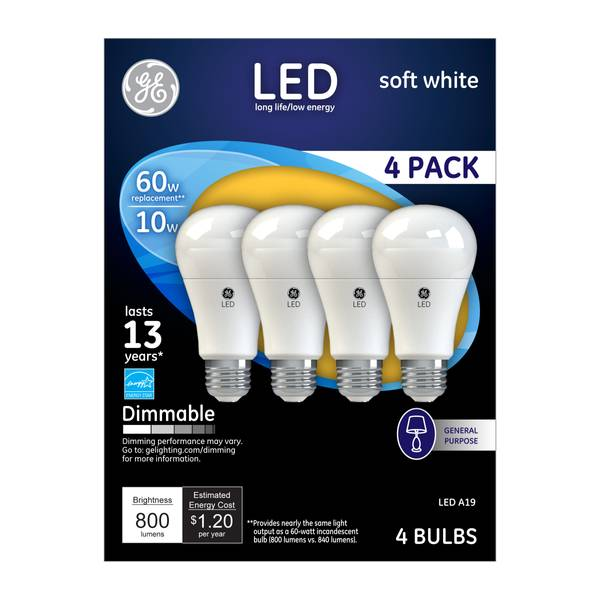 Dimmable LED Bulbs - 4 Pack