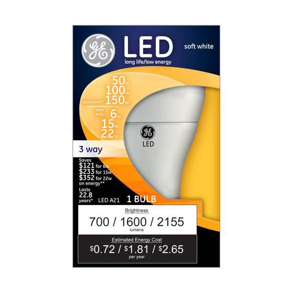 3-Way LED A21 Bulb
