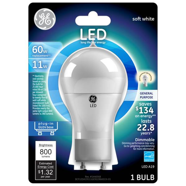 Plug-In GU24 Base Light Bulb