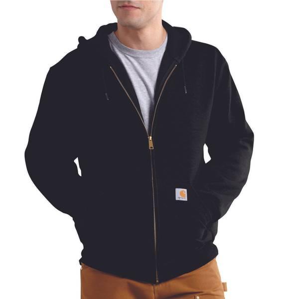 Men's Black Rutland Thermal-Lined Hooded Zip Sweatshirt