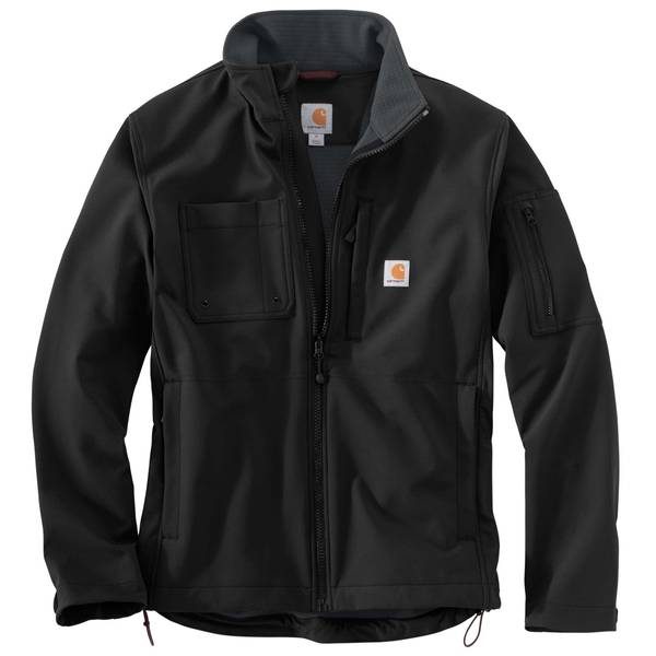 Men's Black Rough Cut Rain Defender Jacket