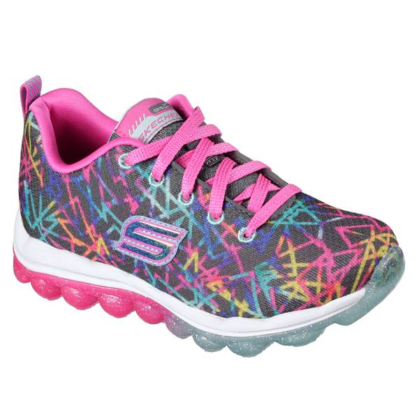 Girls' Blue & Pink Ombre Skech Air Laser Lite Athletic Shoes