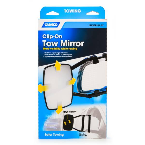 Universal Clamp-On Towing Mirror