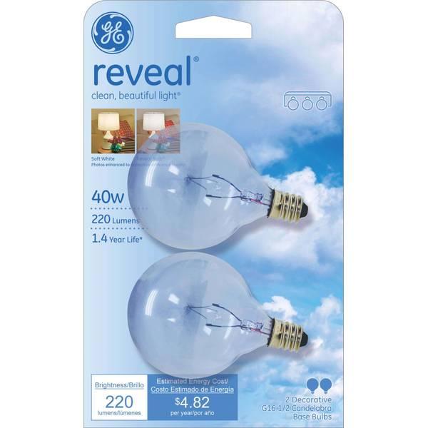 Reveal Candelabra Base Bulbs