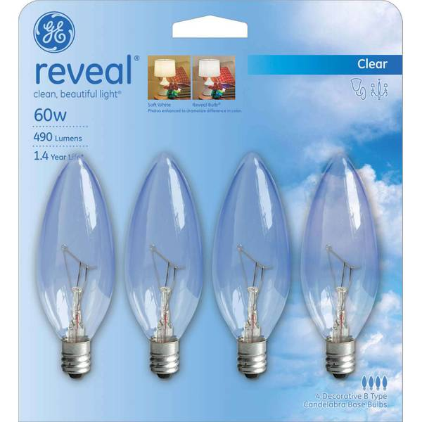 Reveal Blunt Tip Bulbs - 4 Pack