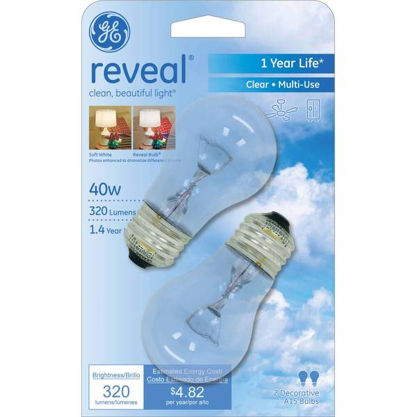A15 Clear Incandescent Ceiling Fan Bulb