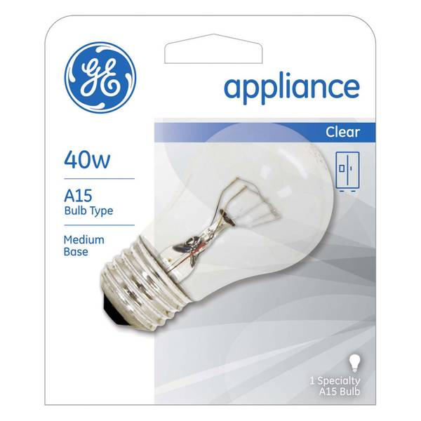 Ge 40 Watt Clear A15 Appliance Light Bulb 15206 Blain S Farm Fleet
