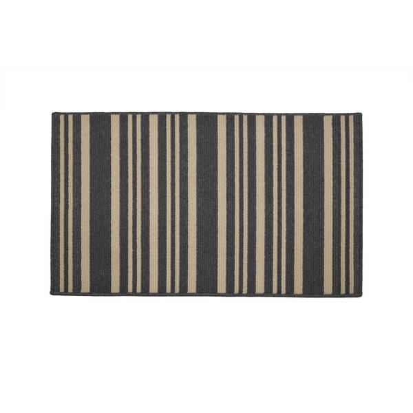 """Washable Rugs Denby Dale: Madison Industries 18"""" X 30"""" 2-Tone Stripe Rug"""