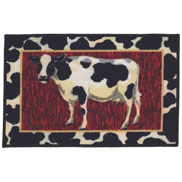 """Madison Industries 20"""" X 30"""" Cow Rug"""