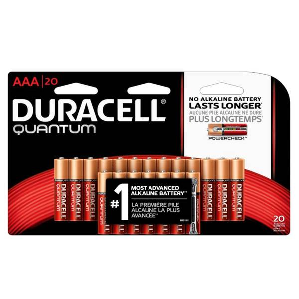 AAA Quantum Alkaline Batteries - 20 Pack