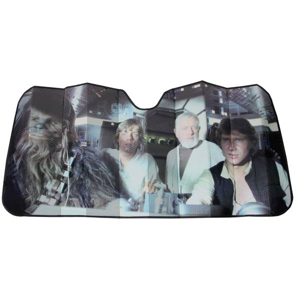 Plasticolor Star Wars Millennium Falcon Accordion Sun Shade 3ed6a1c4b00