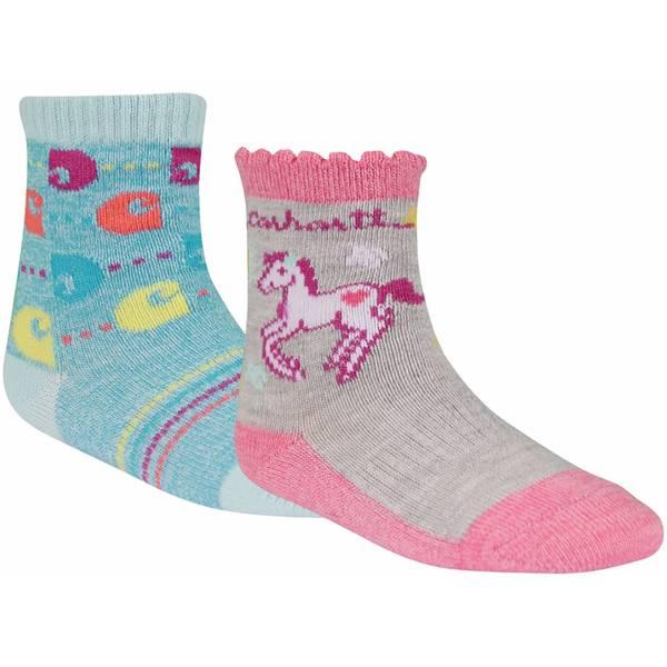 Carhartt Baby Girls' 2-pack Crew Socks