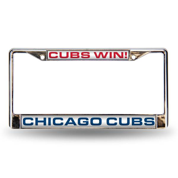 Chicago Cubs Win Laser License Plate Frame
