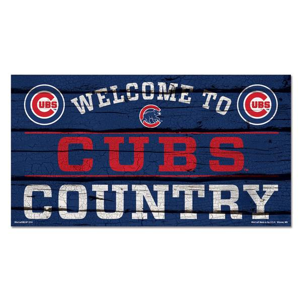 Chicago Cubs Country Wood Sign