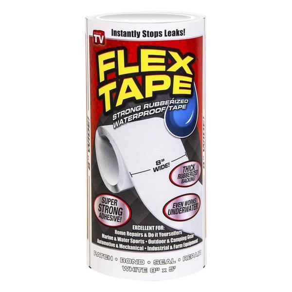 """Flex Tape White 8"""" x 5'"""