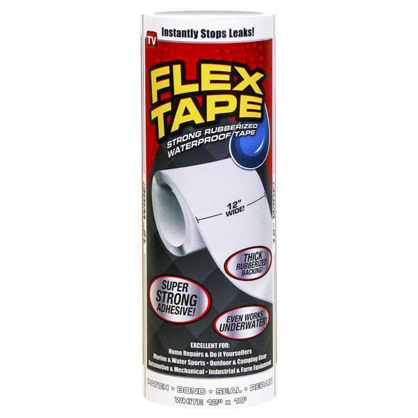 """Flex Tape White 12"""" x 10'"""