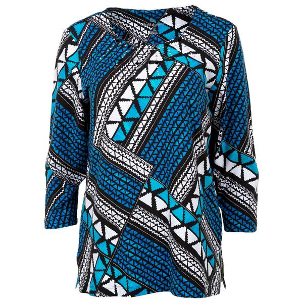 Women's Multi-Colored Ethnic Patchwork Top