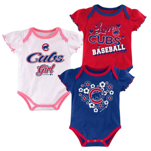Baby Girls' 3-pack Cubs Bodysuits