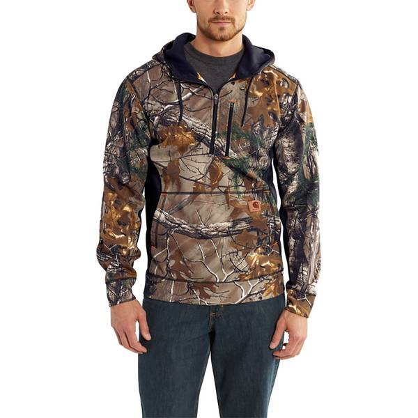 Force Extremes Camo Hooded 1/2 Zip Swtsrt