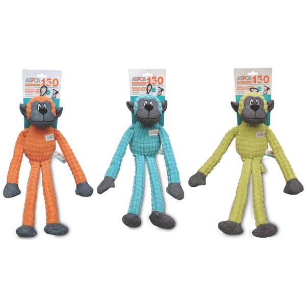 Burlap & Pixel Monkey Dog Toy Assortment