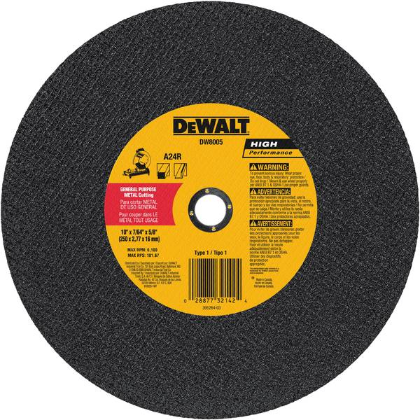 Arbor Metal Cutting Chop Saw Wheel