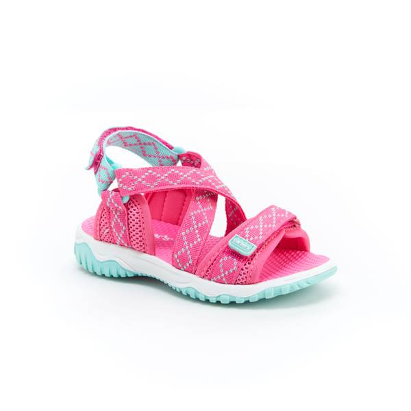 Carter S Girl S Pink Amp Turquoise Splash Sandals