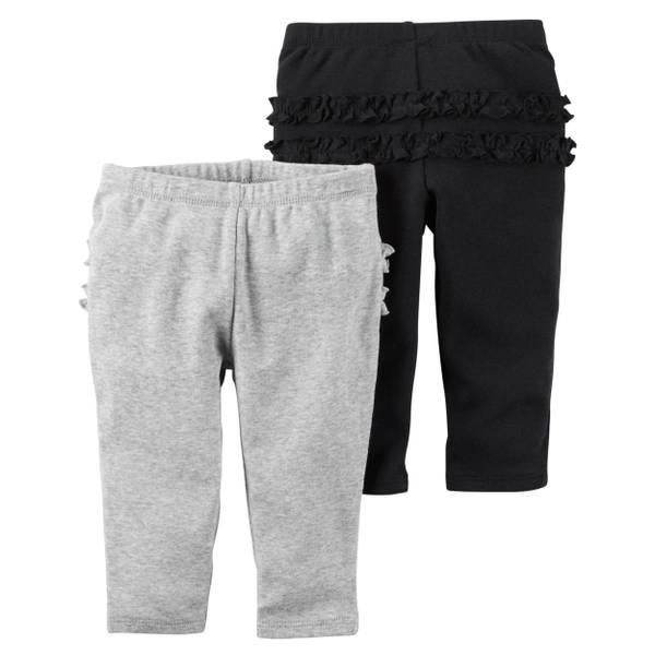 Baby Girls' Navy & Pink Pants - 2 Pack