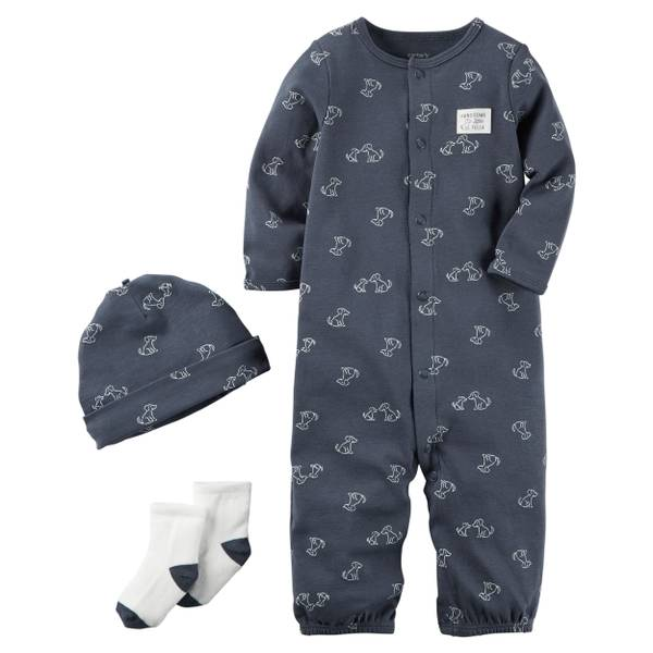 Baby Boys' Navy 3-Piece Layette Set